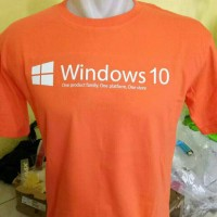kaos windows 10/tshirt/baju/t shirt komputer