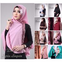 Jual Jilbab syari / Hijab terbaru Khimar Dubai Sequin Diamond Murah