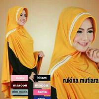 Jilbab rabbani / Jilbab terbaru Khimar Syar'i Rukina Mutiara