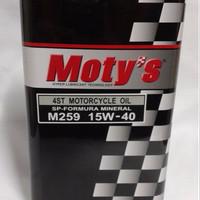 Oli Motys-Mineral Motorcycle Oil 15W-40 (1 L)-PartNo. M259