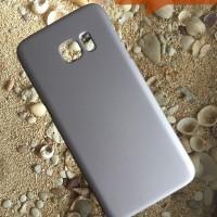Hardcase Case Samsung S7 Edge Polos Casing HP Silver Plastik Keras