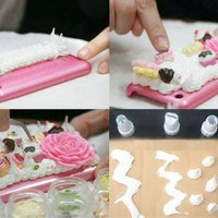 CREAM CLAY PUFFY PAINT / deco decoration squishy case whipped timbul