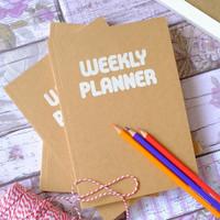Jual Simple Weekly Planner / Buku Agenda Murah