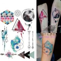 Jual W-08 Temporary Tattoo Watercolor - Water Color Tattoo - Colorful Murah