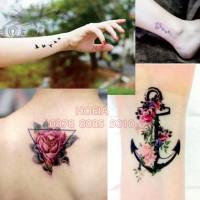 Jual W-01 Temporary Tattoo Flower for Girl - Bunga Tato Wanita Murah