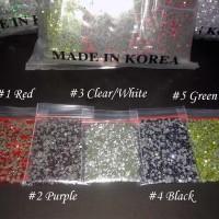 1200Pcs / 5gr rhinestone 2mm nail art / craft manik kristal