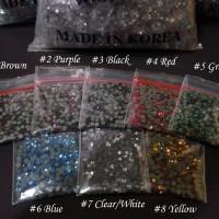 400Pcs / 5gr rhinestone 3mm nail art / craft manik kristal