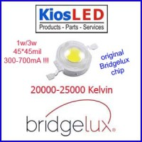 LED 3W White 20000 Kelvin Bridgelux