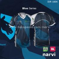 Jersey Team Liquid 2017 Blue| Baju Kaos Polo Gaming Dota 2 Dota2 CS:GO