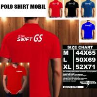 Polo Shirt Otomotif Mobil Suzuki ALL NEW SWIFT-GS Font/Kaos Kerah/Baju