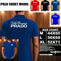 Polo Shirt Otomotif Mobil Toyota LAND CRUISER PRADO Font/Kaos Kerah