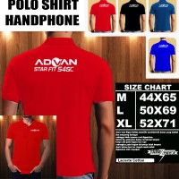 Polo Shirt Gadget/Hp Advan Star Fit S45C FONT/Kaos Kerah/Baju Kerah