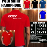 Polo Shirt Gadget/Hp Acer Liquid Z200 FONT/Kaos Kerah/Baju kerah
