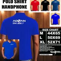 Polo Shirt Gadget/Hp Advan Star MINI FONT/Kaos Kerah/Baju Kerah/Tshirt