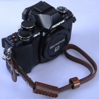Universal Brown Leather Camera Hand Wrist Strap Canon Nikon Sony DLL