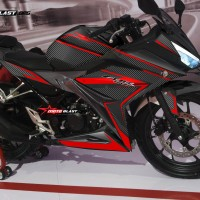 Decal stiker New CBR150R Black Carbon Red