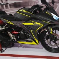 Decal stiker New CBR150R Black Carbon Yellow