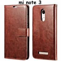 Leather Flip Cover Wallet Xiaomi Redmi Note 3 PRO Case HP dompet kulit