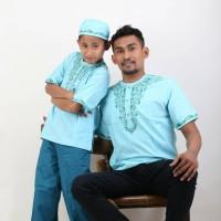 koko baju kemeja ayah anak pria cowok baju muslim bigsize jumbo bayi