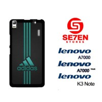 Casing HP Lenovo A7000, A7000 Plus, K3 Note adidas logo neon Custom Ha