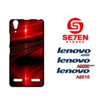 Casing HP Lenovo A6000, A6010, A6000 Plus 3D red Custom Hardcase Cover