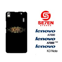 Casing HP Lenovo A7000, A7000 Plus, K3 Note Acdc Rock Band Logo Custom