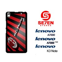 Casing HP Lenovo A7000, A7000 Plus, K3 Note AC Milan Wide Custom Hardc