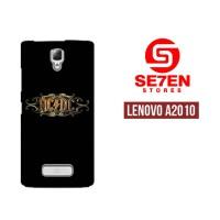Casing HP Lenovo A2010 Acdc Rock Band Logo Custom Hardcase Cover