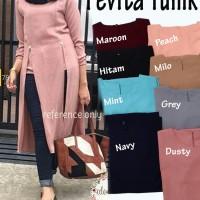 Jual Atasan Blouse Tunik Wanita Baju Muslim Blus Muslim Pevita Murah