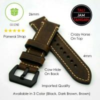 Jual 26mm Panerai Genuine Leather Strap Tali Jam Tangan Kulit Asli Murah