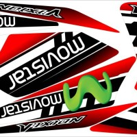 Sticker striping old vixion movistar