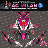Stiker Striping Honda-vario-AC-milan-Pink Spec B