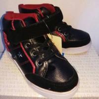 sepatu anak laki-laki hitam merah bata