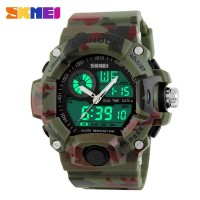 SKMEI S-Shock Men Sport LED Watch 50m - AD1029 - Camouflage