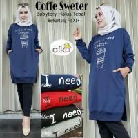 Sweater Outer Wanita COFFE SWETER