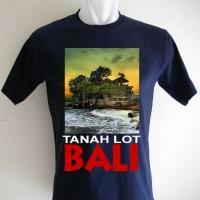 Harga kaos oleh oleh souvenir tanah lot bali navy biru | Pembandingharga.com