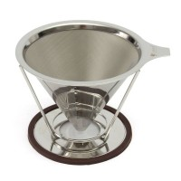 Jual Stainless Steel V60 Premium | Coffee Dripper 2-4 cups Murah