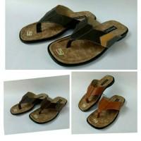 Jual sandal japit pria kulit asli big size Murah