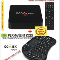 Jual Paket Bundling Smart TV Android Box MXQPRO S905+Mini Keyboard wireless Murah