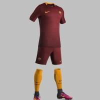 Kaos Kaki Bola Grade ORI AS Roma Home Official 2016-2017