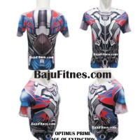 Jual Baju Kaos Pria Gym Mma Fitnes - Optimus Prime Age Of Exitinction Murah