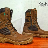 sepatu boots delta kickers leather brown3