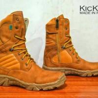 sepatu delta boots kickers leather tan3