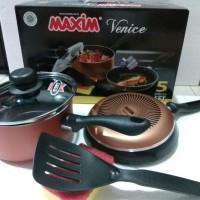 Jual MAXIM Venice set / Panci teflon / fry pan teflon Murah
