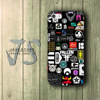 Promo Skateboard Sticker iPhone Case DC Vans ,Casing Type 4 4s 5 5s 5c