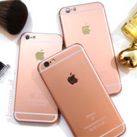 Best Casing hp IPHONE ROSE GOLD for iphone 4 4s 5 5s 6 6+ Unik M