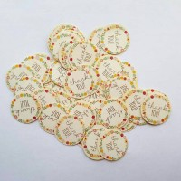 Thank You Floral Patterns Round Shaped Sticker Bulat Air Mail Postcard