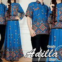 Jual NEW Couple Batik Ethnic Adilla Blue Murah