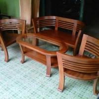 Kursi Cantik Untuk Ruang Tamu Bahan Kayu Jati