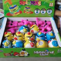Jual Gasing Angry Bird Lampu LED Mainan Edukasi Anak ( Murah, Grosir) Murah
